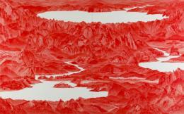 Sea Hyun Lee, Between Red33, 2008, Öl auf Leinwand, 2-teilig, je 250 × 200 cm, Foto: Sigg Collection, Mauensee © The artist