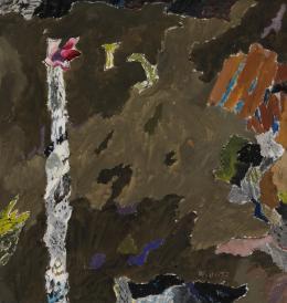 Max Weiler, Pflanze, 1957, Eitempera auf Leinwand  © TLM