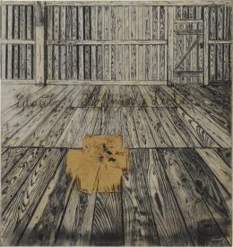 Anselm Kiefer: Glaube, Hoffnung, Liebe, 1973. Kohle, Collage, Hasenblut auf Rupfen, 298,5 x 281 cm; Staatsgalerie Stuttgart, © Anselm Kiefer