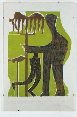 HAP Grieshaber: Olympia III, 1971; Sammlung Würth. © 2019, ProLitteris, Zürich