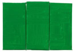 Raoul De Keyser: Green, Green, Green, 2012. Öl auf Leinwand über Holztafel, 21,5 x 29,5 cm; Kunstmuseum St. Gallen, erworben mit Mitteln der Ernst-Schürpf-Stiftung, 2013. © Familie Raoul De Keyser | SABAM Belgien 2018, Foto: Jens Ziehe