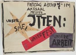 Rudolf Lutz: Unser Spiel, Unser Fest, Unsere Arbeit, 1919; Foto: Klassik Stiftung Weimar