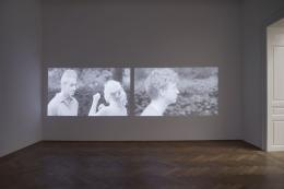 Joanna Piotrowska, Installationsansicht, Stable Vices, Kunsthalle Basel, 2019, Blick auf, Little Sunshine, 2019. Foto: Philipp Hänger / Kunsthalle Basel