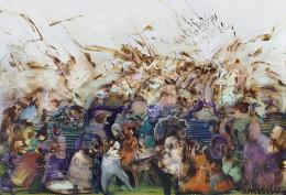 Ali Banisadr (geb. 1976): We Work in Shadows, 2017, Öl auf Leinwand, Privatsammlung/Sperone Westwater Gallery, New York © Ali Banisadr und Sperone Westwater Gallery, New York Foto von Jeffrey Sturges