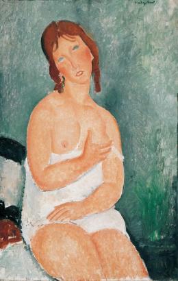 Amedeo Modigliani, Weiblicher Halbakt, 1918, Albertina, Wien – Sammlung Batliner © Albertina, Wien – Sammlung Batliner