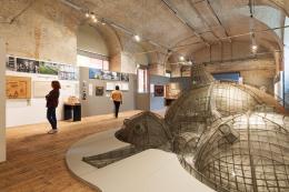 """Ausstellungsansicht """"Balkrishna Doshi. Architektur für den Menschen"""" © Architekturzentrum Wien, Foto: Lisa Rastl"""