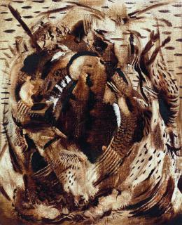 Ali Banisadr: Bandit, 2015, Öl auf Leinwand, 25,4 x 20,3 cm, Privatsammlung / Courtesy Galerie Thaddaeus Ropac, London, Paris, Salzburg © Ali Banisadr, Foto: Jeffrey Sturges