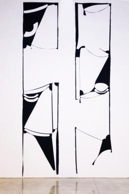 Marion Baruch, Modélisation d'une reliance harmonieuse, 2017 Wolle, 550 x 330 cm, Courtesy of the artist and Galerie Urs Meile, Beijing- Lucerne