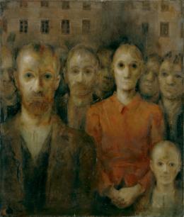 Otto Baumberger, Masse, 1936 Öl auf Leinwand, 117,5 x 100 cm Kunsthaus Zürich, Leihgabe des Kantons Zürich, 1949, © 2019 ProLitteris, Zürich