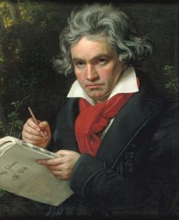 Joseph Karl Stieler, Beethoven mit dem Manuskript der Missa solemnis 1820; Beethoven-Haus Bonn, © Beethoven-Haus Bonn
