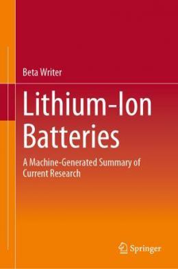 Das erste rein maschinengeschriebene Buch: Beta Writers - Lithium-Ion Batteries (Bild: Cover)