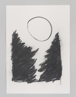 Aljoscha Ségard, O. T. , 2019, Kohle, 106 x 75 cm, Nachlass Aljoscha Ségard