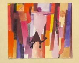 """Paul Klee, """"mit dem braunen Dreieck"""", 1915, 39, Aquarell auf Papier auf Karton, 20 x 23 cm, Kunstmuseum Bern"""