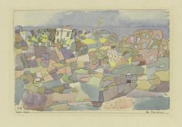 Paul Klee, bei Taomina, 1924, 220, Feder und Aquarell auf Papier auf Karton, 15,1 x 23,5 cm, Zentrum Paul Klee, Bern