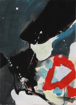 """""""Blackout"""", 1960, Gouache auf Papier, 37,8 x 28 cm, Teruko Yokoi, Bern © the artist"""