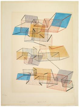 Paul Klee, segelnde Stadt, 1930, 100, Aquarell auf Papier, 49 x 37 cm, Kunstmuseum Bern, Schenkung Emilio Albisetti