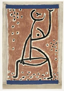 Paul Klee, Fräulein vom Sport, 1938, 29, Kleisterfarbe auf Papier auf Karton, 59 x 40,5 cm © Privatbesitz Schweiz, Depositum im Zentrum Paul Klee, Bern