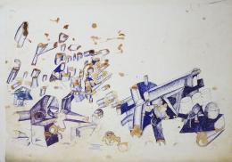 Gottfried Bechtold: OASIS (90 x 70 Zentimeter)