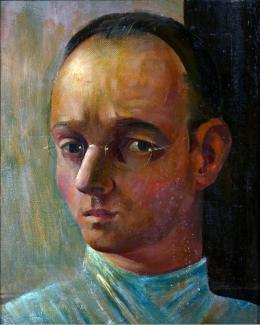 Johannes Itten Selbstbildnis, 1928 Öl auf Leinwand 44 x 36 cm Privatbesitz © 2019, ProLitteris, Zürich