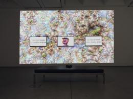 Zach Blas and Jemima Wyman, im here to learn so :)))))), 2017, four-channel HD video installation at Institute of Modern Art, Brisbane, Australia