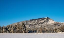 Blick auf den Schöckl von Südosten im Winter 2017,  Foto: R. Koeberl