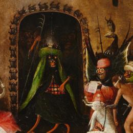 Detail von Hieronymus Bosch: Weltgerichts- Triptychon, Detail, um 1490 – um 1505, Öltempera auf Eiche © Gemäldegalerie der Akademie der bildenden Künste Wien