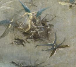 Hieronymus Bosch: Weltgerichts- Triptychon, Detail, um 1490 – um 1505, Öltempera auf Eiche © Gemäldegalerie der Akademie der bildenden Künste Wien