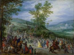 Jan Brueghel (I), Der Weg zum Kalvarienberg, um 1605/1610Öl auf Kupfer, 13,2 x 18 cm, Kunsthaus Zürich, Stiftung Betty und David Koetser, 1986