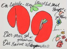 Ida Buchmann, Der Mai ist gekommen./May has come., undatiert/undated, Wachskreide, Acryl, Edding/wax crayons, acrylic, sharpie, 66,3 x 90,4 cm © Erbengemeinschaft Ida Buchmann