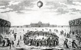 Charliere: unbemannter Ballon, Aufstieg 1783