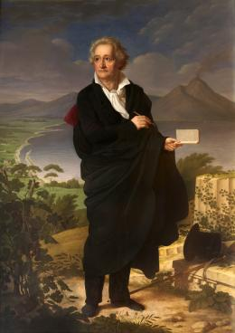 Christoph Heinrich Kolbe: Goethe, 1826. Öl auf Leinwand; © Friedrich-Schiller-Universität Jena, Kustodie. Foto: Jan-Peter Kasper