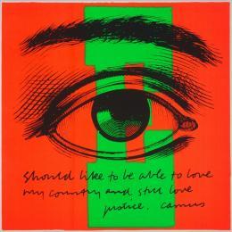 Corita Kent E eye love, 1968 Siebdruck auf Papier, 587 x 584 mm,  Courtesy Corita Art Center, Immaculate Heart Community, Los Angeles Foto: Arthur Evans