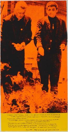 Corita Kent phil and dan, 1969 Siebdruck auf Papier, 586 x 304 mm  Courtesy Corita Art Center, Immaculate Heart Community, Los Angeles  Foto: Arthur Evans