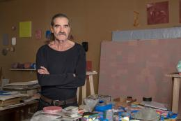 Porträt Stefan Gritsch im Atelier in Lenzburg, 2019 © 2018, ProLitteris, Zürich Foto: ullmann.photography