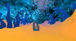 Stephan Bruelhart, Zuendler (Videostill), 2019 VR Technologie, Unity, Tilt Brush, Oculus Rift VR Brille, Grösse variabel