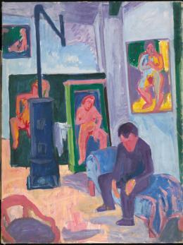 Max Gubler, Der Bildhauer Leroy, 1940 Öl auf Leinwand, 46.3 x 39.6 cm Aargauer Kunsthaus, Aarau / Depositum Sammlung Werner Coninx © Eduard, Ernst und Max Gubler-Stiftung, Zürich Foto: SIK-ISEA, Zürich (Philipp Hitz)