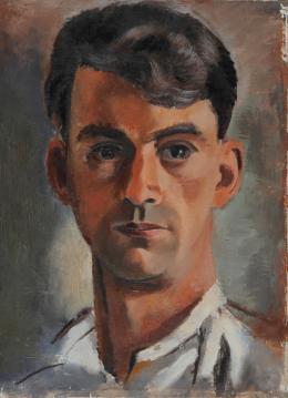 Eduard Bäumer Selbstportrait, 1922, Öl auf Leinwand, Museum der Moderne Salzburg © Angelika Bäumer, Wien, Foto: Rainer Iglar