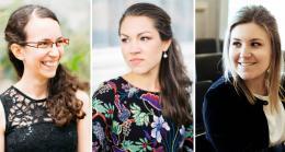 Lea Müller (Mezzosopran), Teresa Wrann (Blockflöte) und Eva-Maria Hamberger (Cembalo)