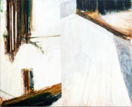 Oliver Krähenbühl, panel one, 2017–2019 Öl auf Baumwolle, 145 x 180 cm