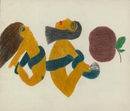 Barbara Demlczuk, Ohne Titel/undatiert, Bleistift, Farbstifte/Pencil, 40,5 x 34,4 cm, Courtesy Galerie Gugging