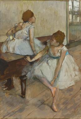 Edgar Degas, Zwei Tänzerinnen,1874, Leihgabe aus Privatbesitz, Foto: © Staatsgalerie Stuttgart
