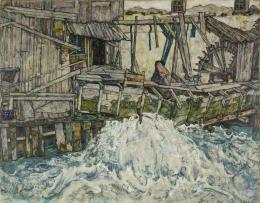 Egon Schiele, Zerfallende Mühle, 1916 © Landessammlungen Niederösterreich, Foto: Christoph Fuchs