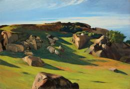 Edward Hopper, Cape Ann Granite, 1928. Öl auf Leinwand, 73.5 x 102.3 cm; Privatsammlung. © Heirs of Josephine Hopper / 2019, ProLitteris, Zürich
