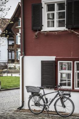 ehemaliges Wohnhaus von Reinhold Luger, Dornbirn Hatlerdorf, saniert von Reinhold Luger, Foto: Rainer