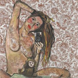 Elke Krystufek My Picabia, 1997 Acryl auf Stoff Albertina, Wien. Sammlung Essl © Elke Krystufek