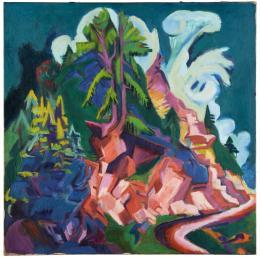Ernst Ludwig Kirchner, Weg zur Staffel, 1919, Hilti Art Foundation, Schaan