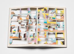 Niklaus Rüegg, Leere Ode, 2011. Print, Scheerenschnitt, 34 x 48 x 4.5 cm. © Sammlung Kunst(Zeug)Haus
