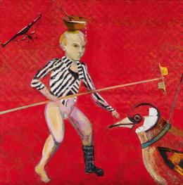 Christine Schlegel: Das Kind spielt, 2019 Öl auf Leinwand © Christine Schlegel, Foto: Erich Hussmann, Wien