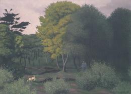 Vallotton Félix Le chasseur à Honfleur, 1918 Öl auf Leinwand, 95 x 120 x 5 cm Höhe, Breite, Tiefe Fondation Saner, Studen Stiftung für Schweizer Kunst