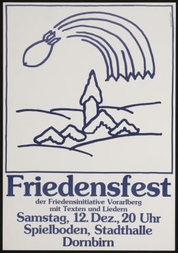 Friedensfest der Friedensinitiative Vorarlberg 1982, Plakatgestaltung Reinhold Luger